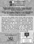 """JUNIO 2018.-1º ENCUENTRO """" GRAFICO"""" ENCUENTRO 12 ARTISTAS MÉXICO - ESPAÑA"""" del"""" 1º ENCUENTRO IBEROAMERICANO DE ARTE MÉXICO – ESPAÑA"""" I Galeria V&S  Del 15 de Junio al 15 de Julio 20018 Eje 4 sur Xola Nº 1662, Col Narvarte, Del. Benito Juarez."""