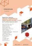 """FEBRERO 2019.- """" SOCIOS TEMPORALES""""  Galeria Crearium.  c/ Baron de Eroles 38  MONZON - HUESCA"""